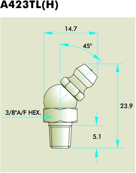 A423TL(H) Grease Fitting