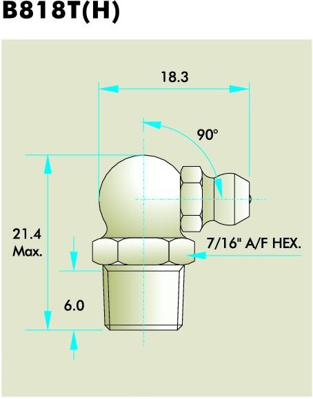 B818T(H) Grease Fitting