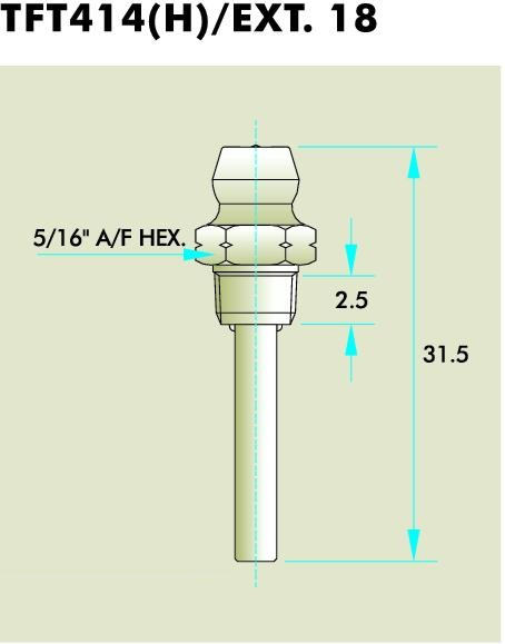 TFT414(H) EXT. 18 Grease Fitting